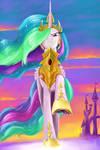 Beware, enemies of Equestria! (Celestia)