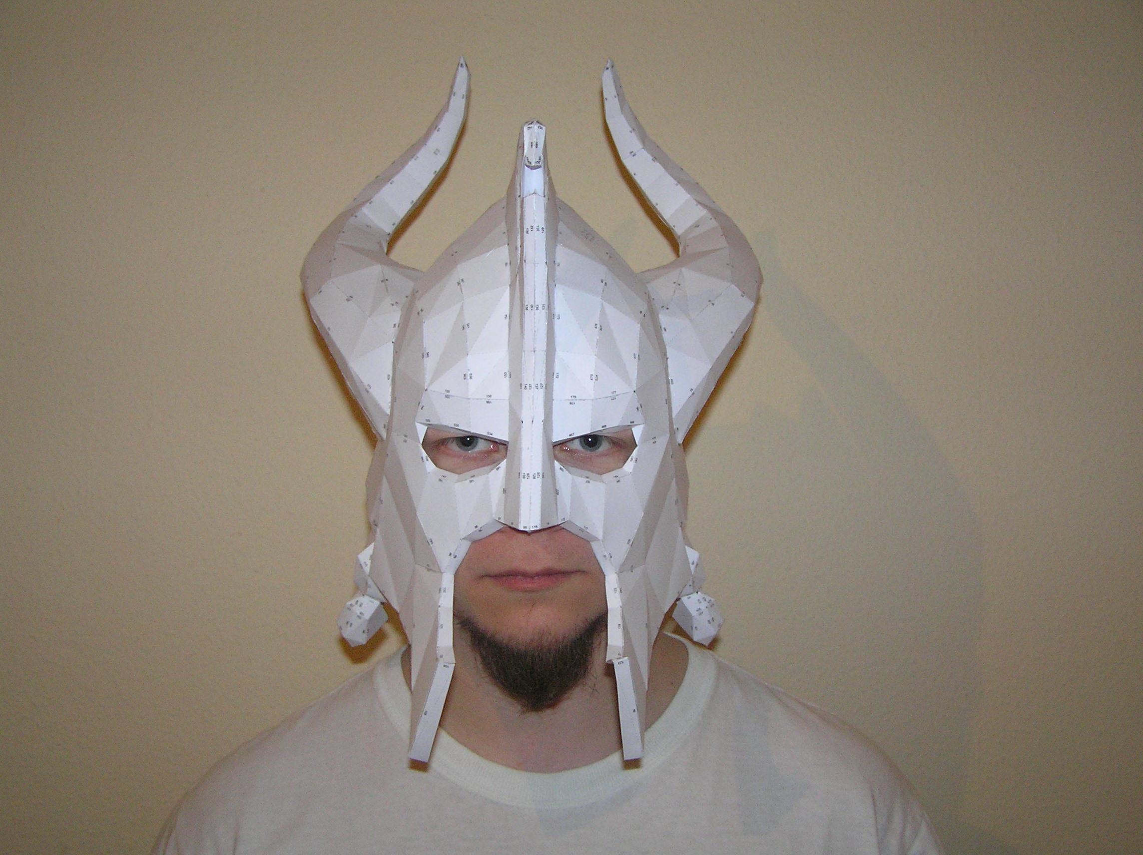 Skyrim Dragon Helmet Pepakura - skyrim dragon bone