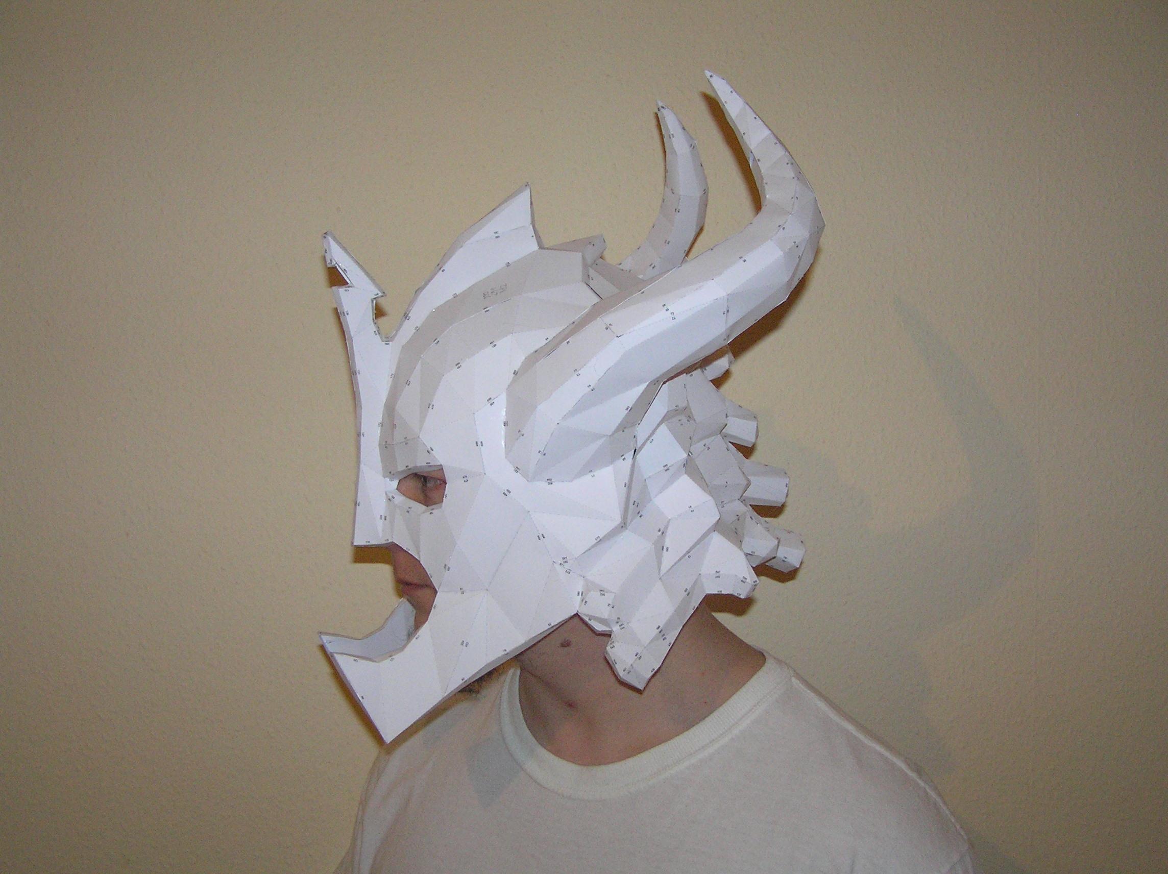 Как сделать череп дракона из бумаги