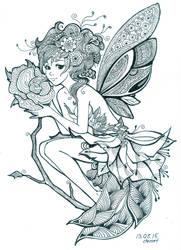 Rose-Zentangle by demetkilic