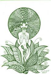 Lotus-Zentangle by demetkilic