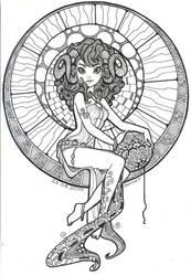 Capricorn-Zentangle by demetkilic