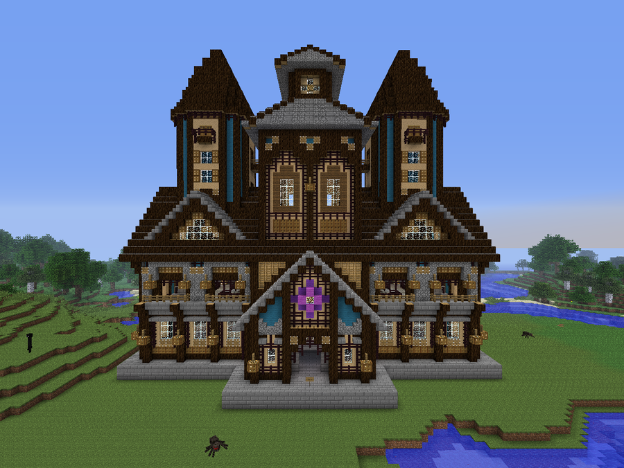 Minecraft victorian houses and medieval on pinterest - Mansion victoriana ...