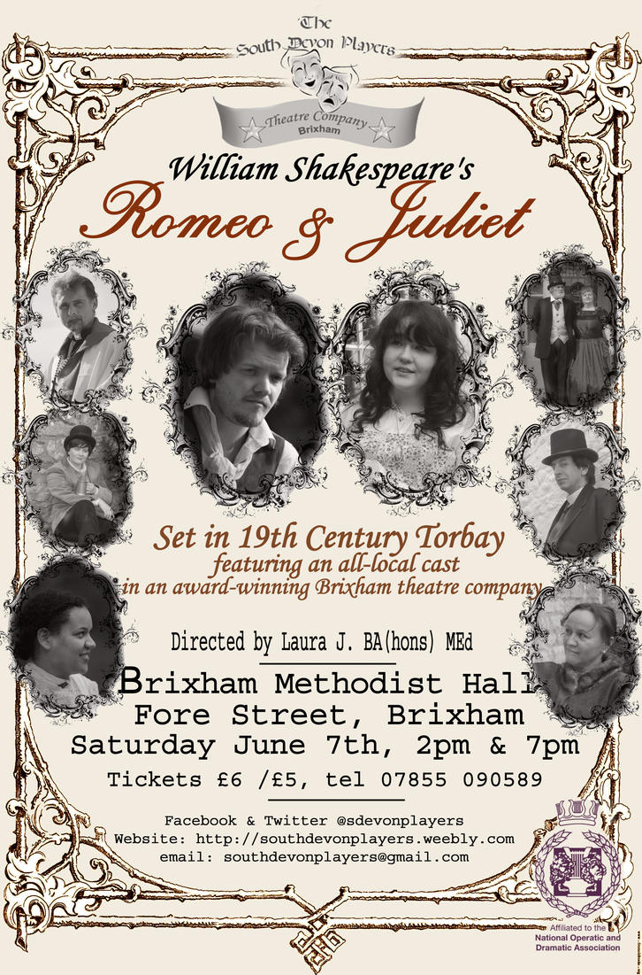 Romeo and Juliet theatre poster by southdevonplayers on ...