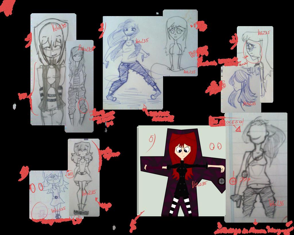 Sketchdump de redraws :I by Velu235