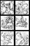 Spiderman 6 panel ink