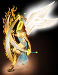 fire sword angel