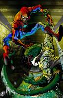 Spiderman vs Lizard by RudyV by johnercek