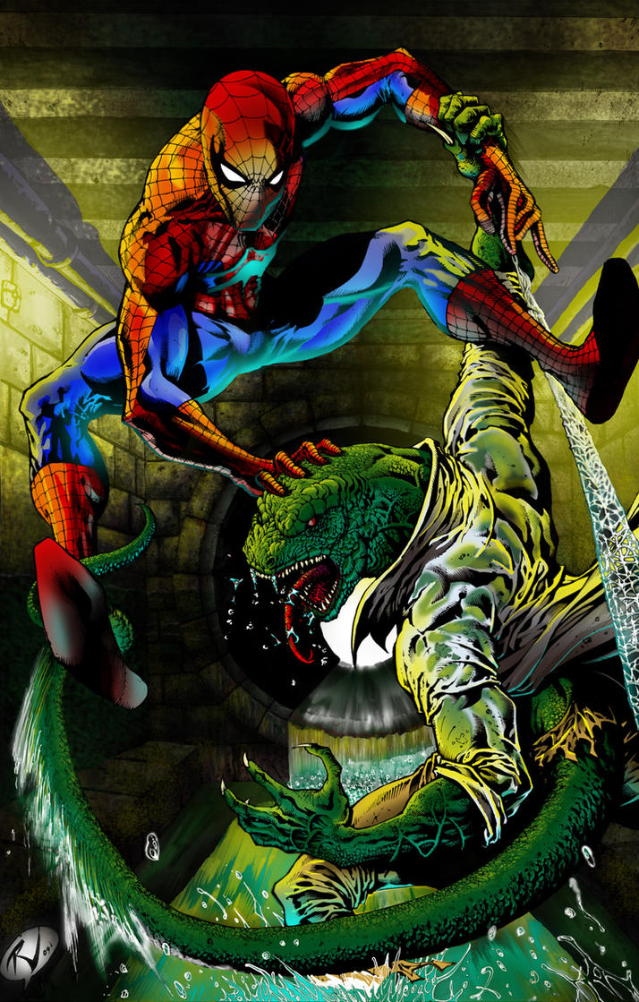 Spiderman vs Lizard by RudyV by johnercek on DeviantArt