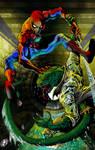 Spiderman vs Lizard by RudyV