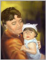 my niece shelby WIP by johnercek