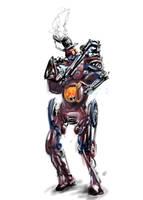 SDJ biped robot by johnercek