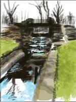 SDJ waterfall bridge by johnercek