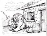 Ogre Outside Teahouse