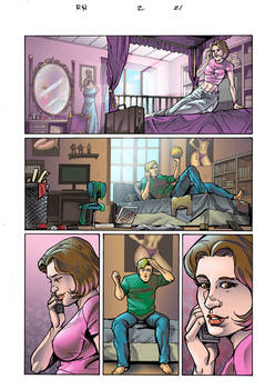 bedroom scenes comic color