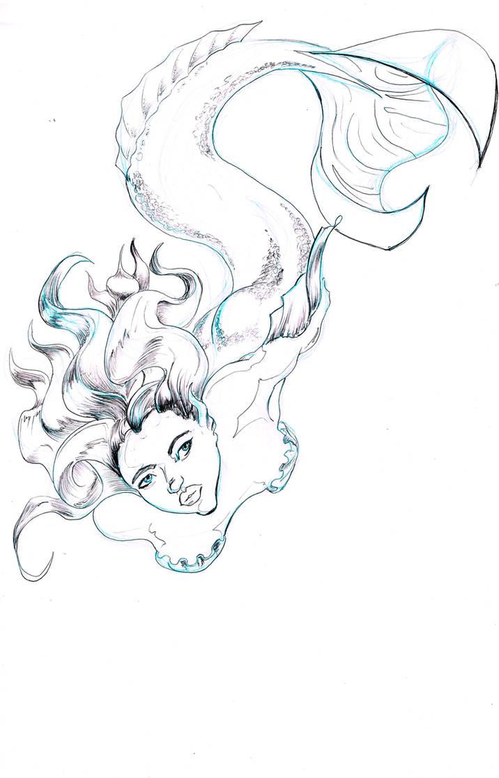Mermaid-descending by johnercek