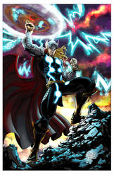 Thor by V K Marion inks by devgear