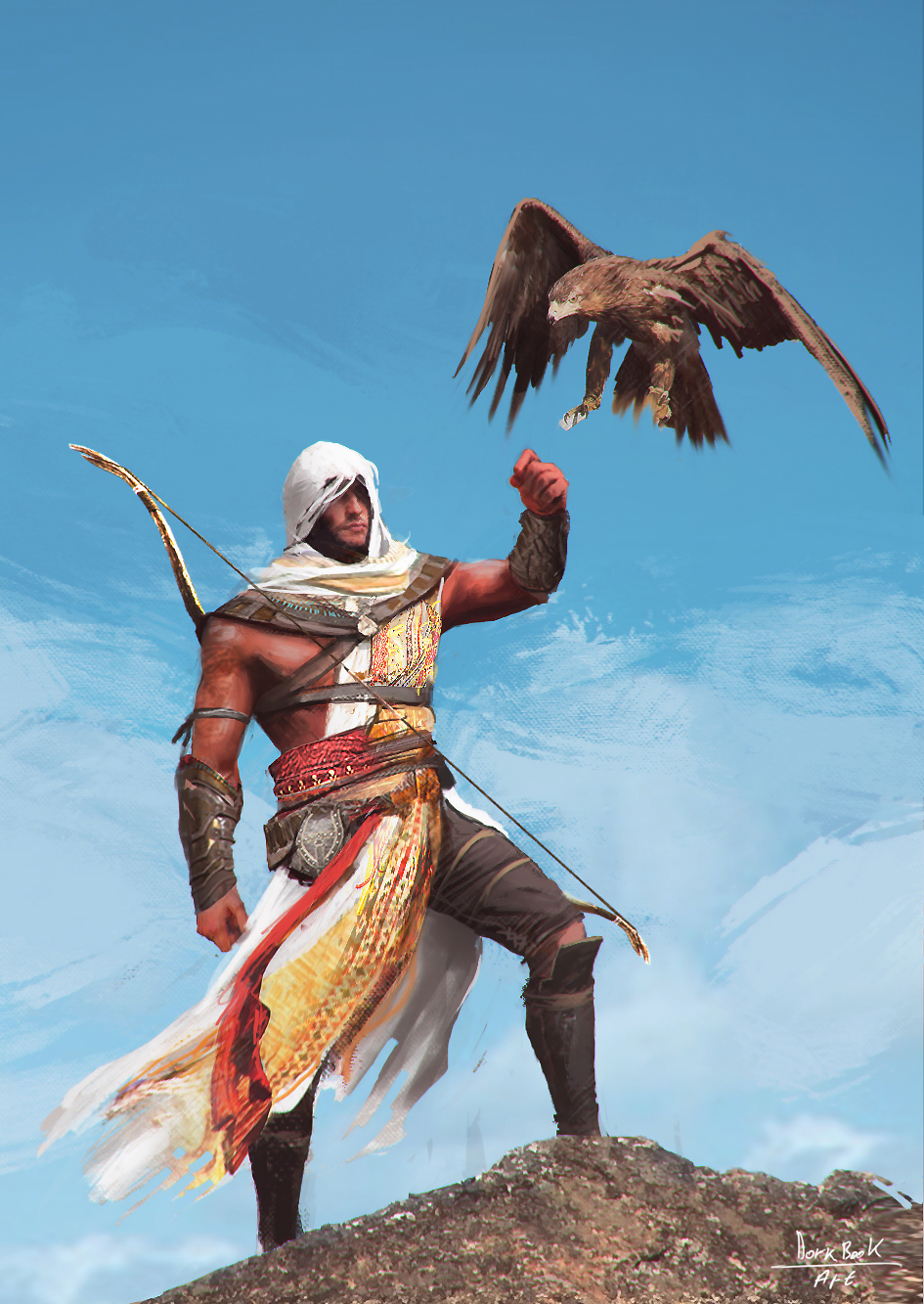 Assassin S Creed Origins Bayek By Wert23 On Deviantart
