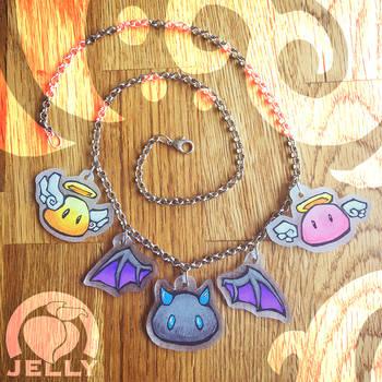 Devilmon and Angelmon Necklace