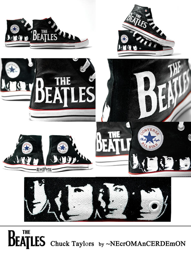 The Beatles Chuck Taylors by NEcrOMAnCERDEmON
