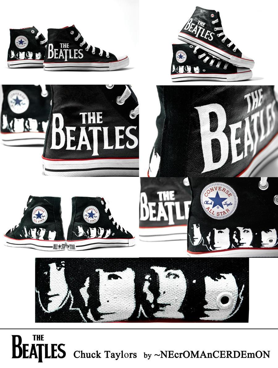 The Beatles Chuck Taylors by NEcrOMAnCERDEmON