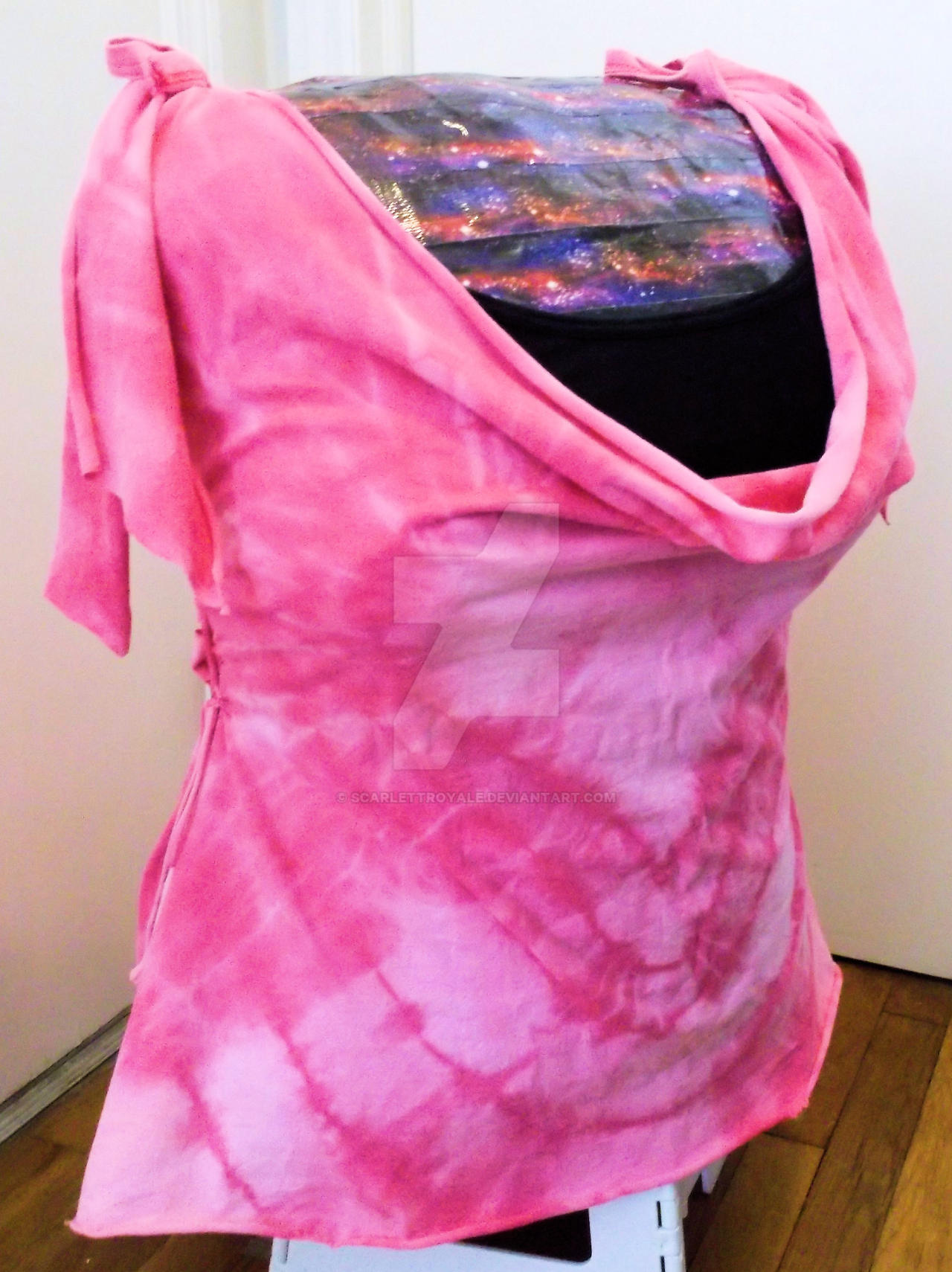 Bleach heart tie dye refashioned t shirt by scarlettroyale for How to bleach dye a shirt