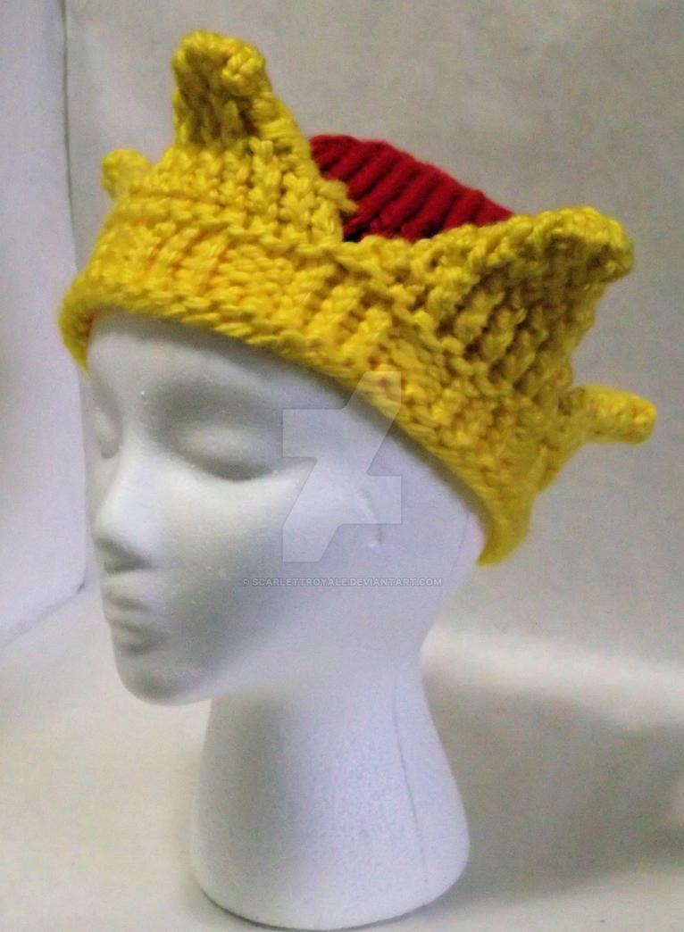 Loom Knit Crown Hat by ScarlettRoyale