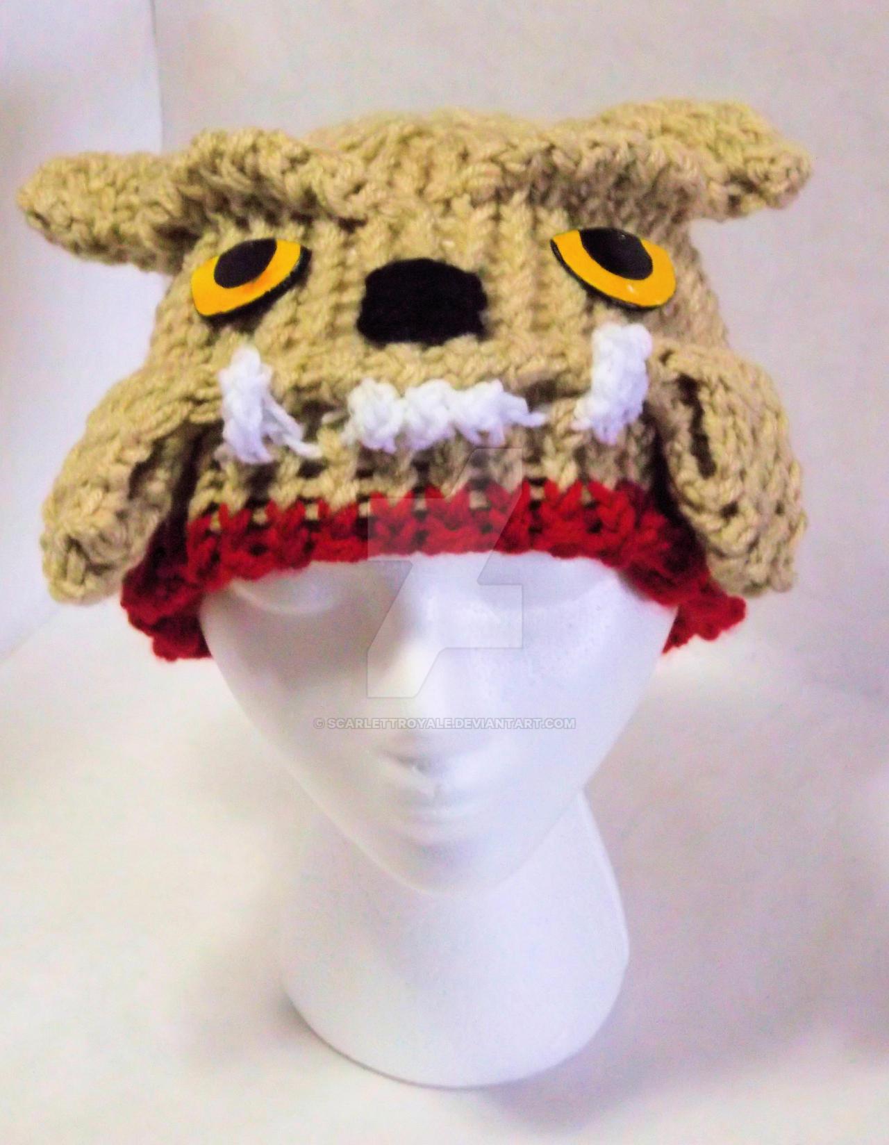 Loom Knit Bulldog Hat by ScarlettRoyale
