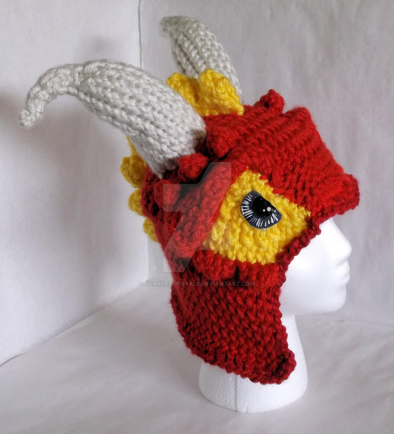 Knitting Pattern Dragon Hat : Loom Knit Dragon Hat by ScarlettRoyale on DeviantArt