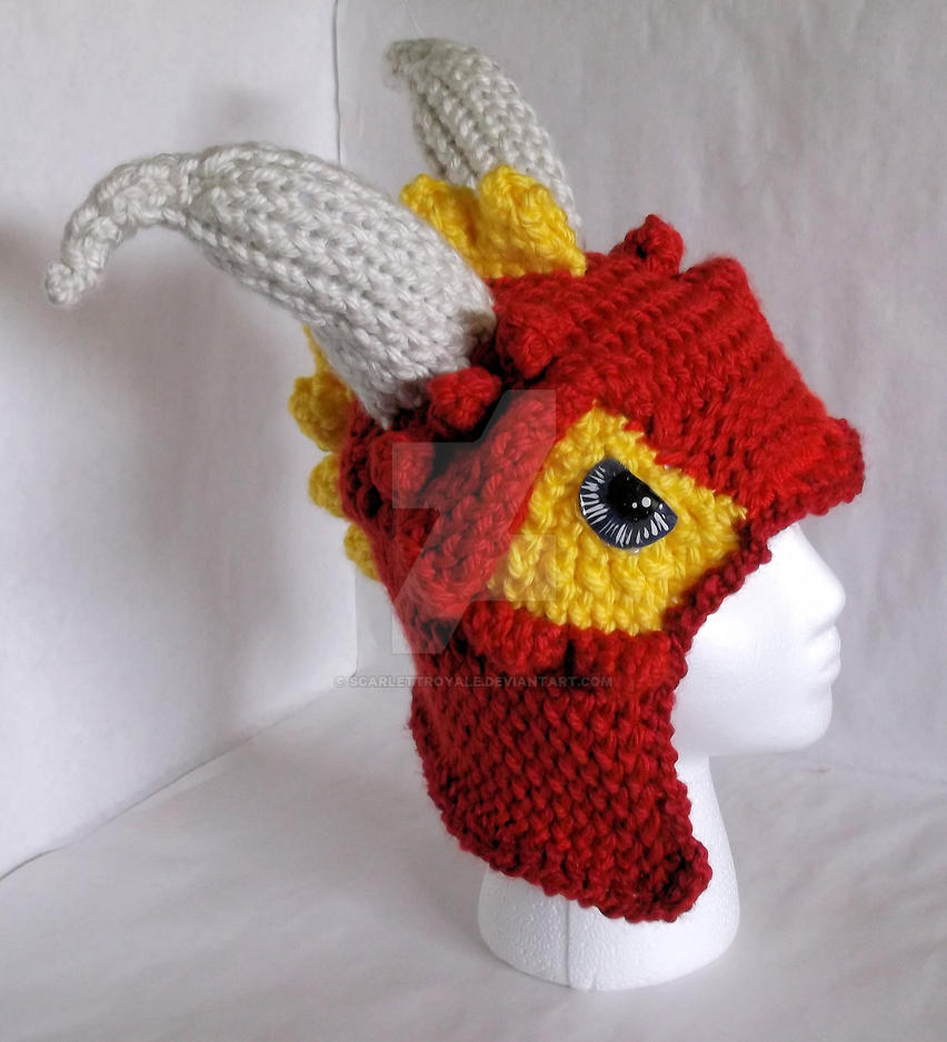 Loom Knit Dragon Hat by ScarlettRoyale on DeviantArt