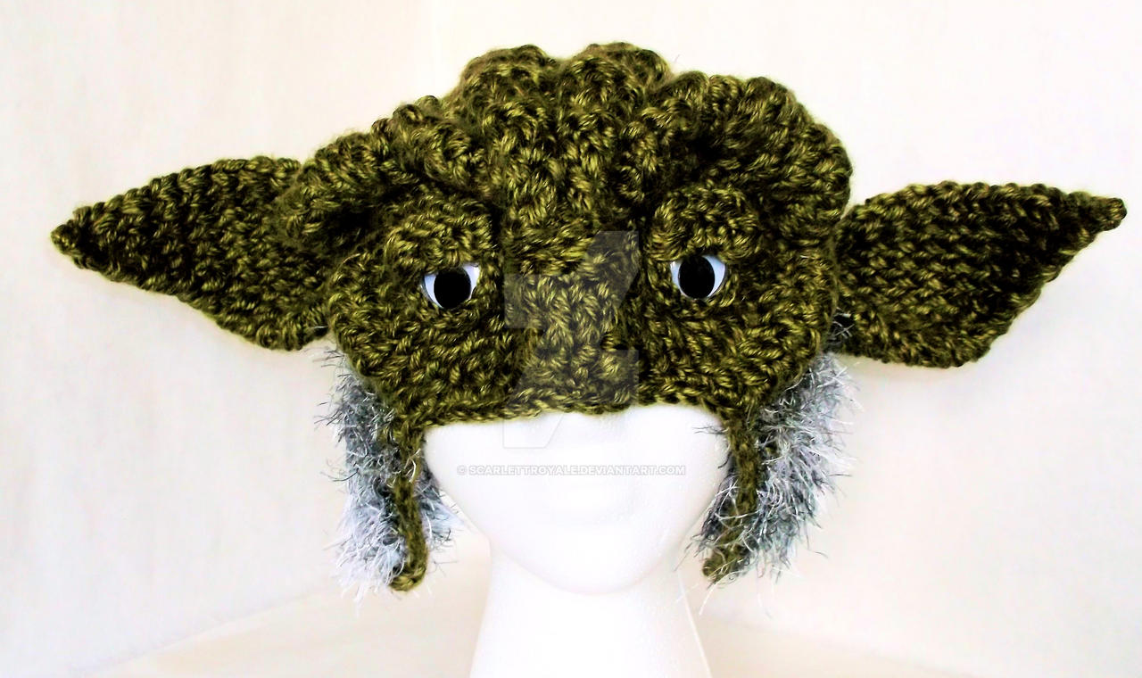 Loom Knit Yoda Hat by ScarlettRoyale