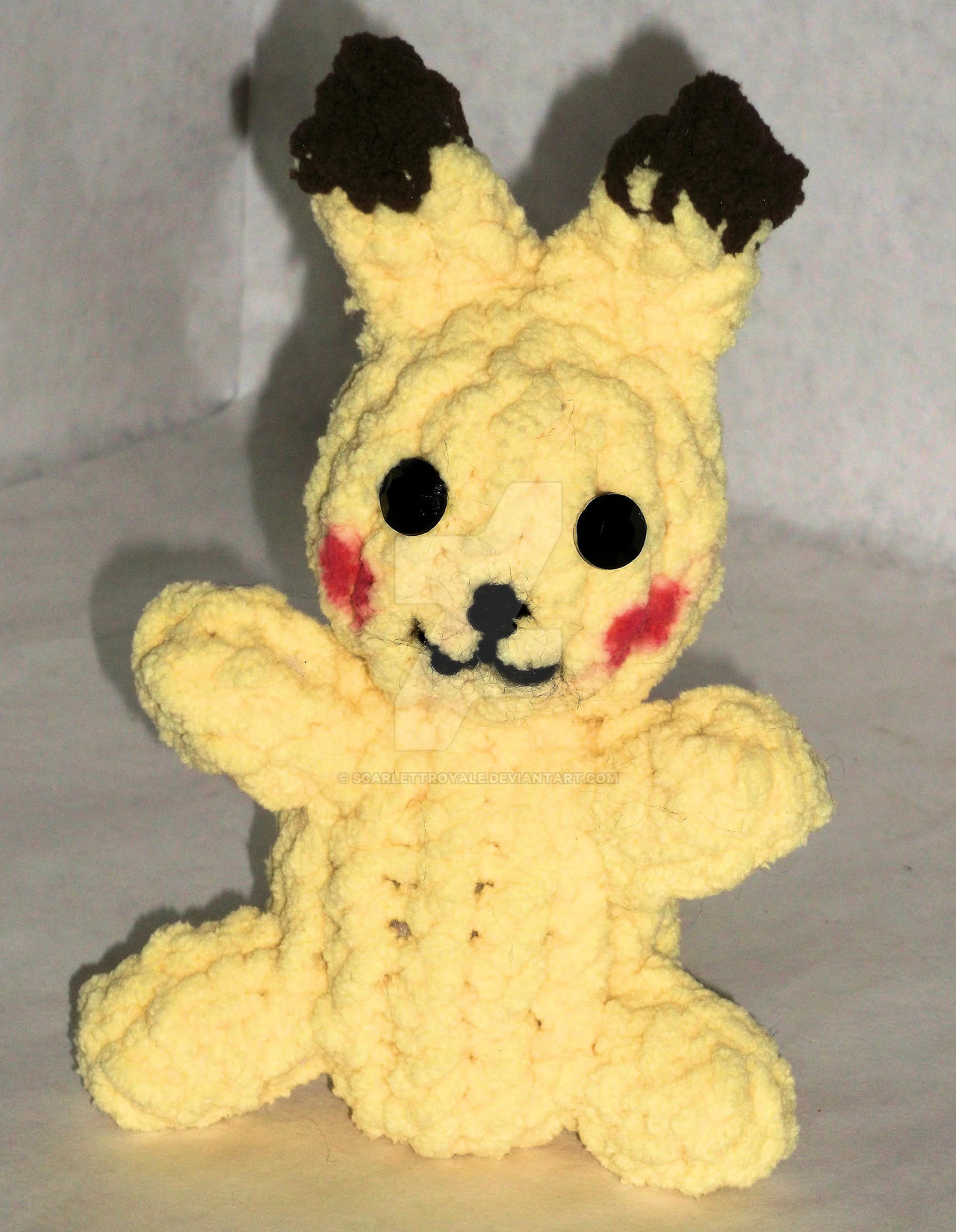 Loom Knit Pikachu by ScarlettRoyale