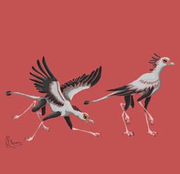 Secretarybird - Orniquad by Kosmotiel