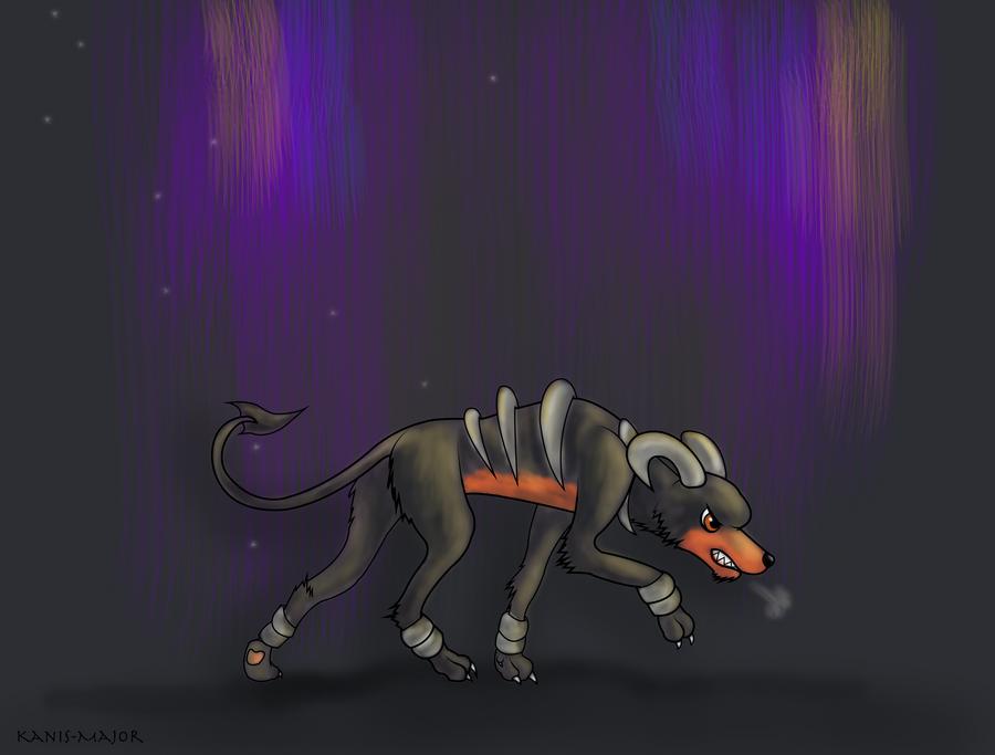 Houndoom Stalk by Kanis-Major