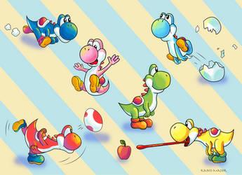 Yoshi Rainbow by Kosmotiel
