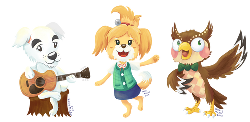 Animal Crossing - Isabelle KK Slider Blathers