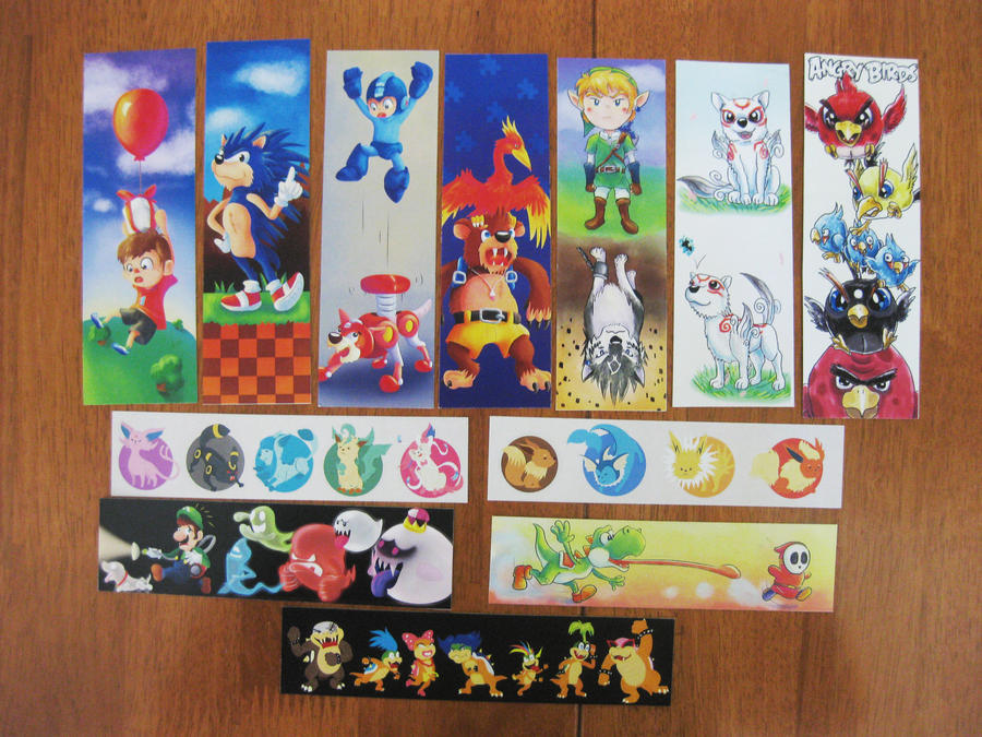 The many bookmark designs by Kosmotiel