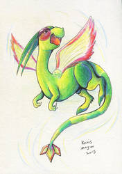 Flygon Commission by Kosmotiel