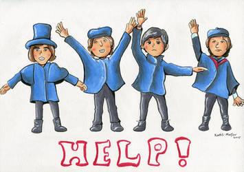 Beatles Help! by Kosmotiel