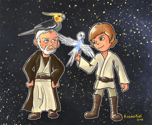 Obi and Luke by Kosmotiel