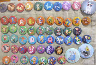 The Current Badge/Button designs by Kosmotiel