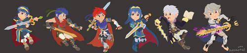 Team Fire Emblem by Kosmotiel