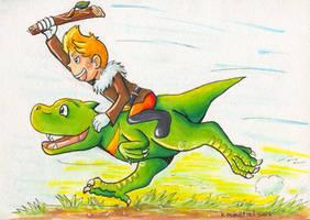 Lucas Riding a Drago - Art Trade