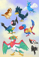 Pokebird Sticker Sheet by Kosmotiel