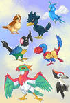 Pokebird Sticker Sheet