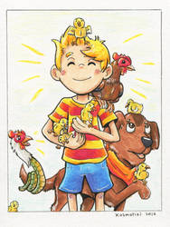 Lucas and his Chickens! - Gift