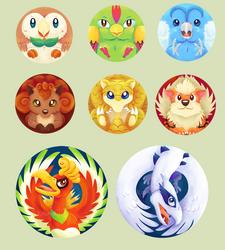Poke Button Designs by Kosmotiel