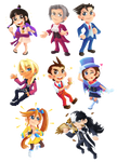 Ace Attorney - Stickers/Magnets