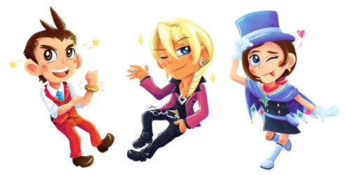 Chibi Attorney - Apollo Justice by Kosmotiel
