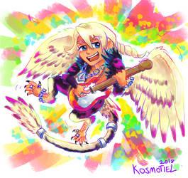 Psychedelic Rock Klavier by Kosmotiel